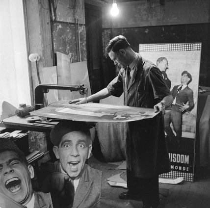Behind the scenes at the London Palladium: 1956
