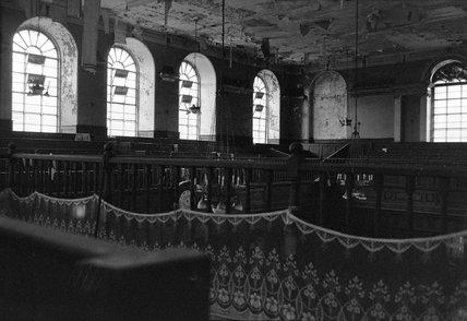 Interior of the Synagogue School House, Brick Lane: 1975
