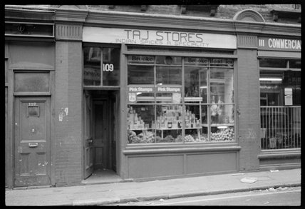 Indian Spices 'Taj Stores', Spitalfields: 1974
