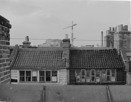Rooftops of houses in Fournier Street: 1974
