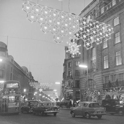 Regent Street Christmas lights; 1965