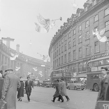 Christmas Lights on Regents Street, 1960
