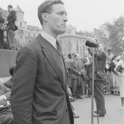 Aneurin Beven speaking at the Suez Question ralley, 1956