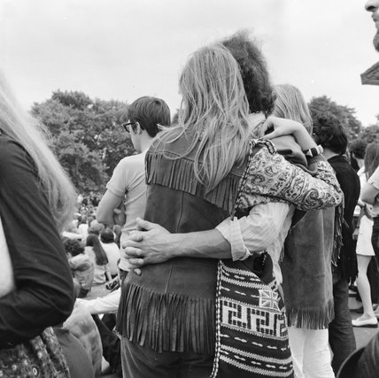 Couple at a festival in Hyde Park; 1970
