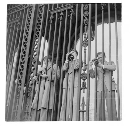 Photographers at  Admiralty Arch; c.1960