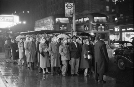 Rush Hour In The West End C 1960 By Bob Collins At Museum