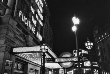 West End at night; 1960
