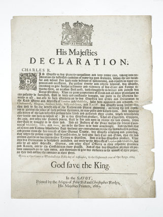 Royal declaration: 1666