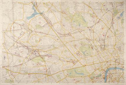 Stadtplan von London; 1941