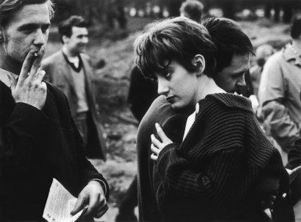 Man and woman embracing: 1961