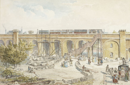 Spa Road Temporary Terminus, London & Greenwich Railway, 1836
