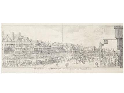Entree Royalle de la Reyne Mere du Rotres-Christiens dansville de Londres; C1650