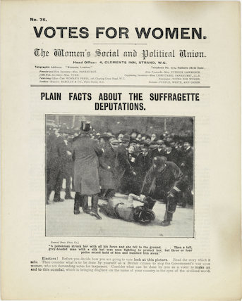 Votes for Women; plain facts about the suffragette deputations; 1910