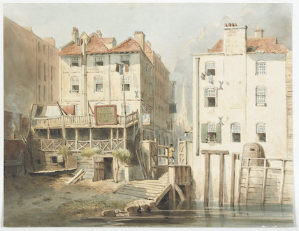 Hungerford Stairs on the Thames bank; 1820