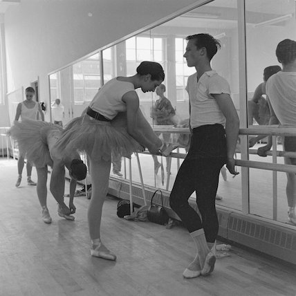Students at the Royal Ballet School; c. 1962