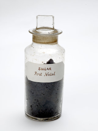 Sample of unrefined sugar; c.1920