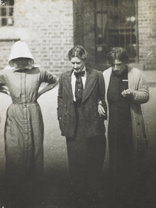 Surveillance photograph of suffragette prisoners; 1913