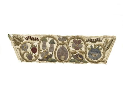 An embroidered band; 1631-1670