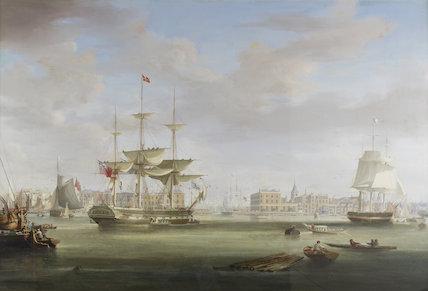 Thomas King Entering London Dock: c.1825