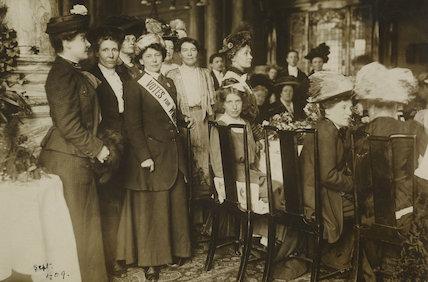 Breakfast reception for released Suffragette prisoners, 1909.