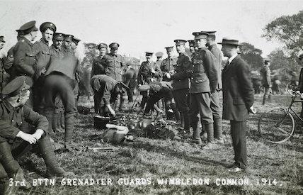 The 3rd Battalion Grenadier Guards prepare for war; 1914