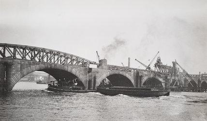 Demolition begins on the old Waterloo Bridge