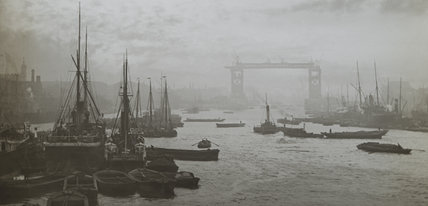 Lower Pool, with Tower Bridge under construction.