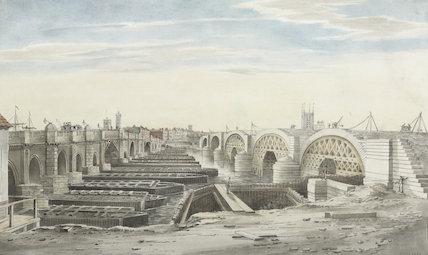 View from near New London Bridge, 1829