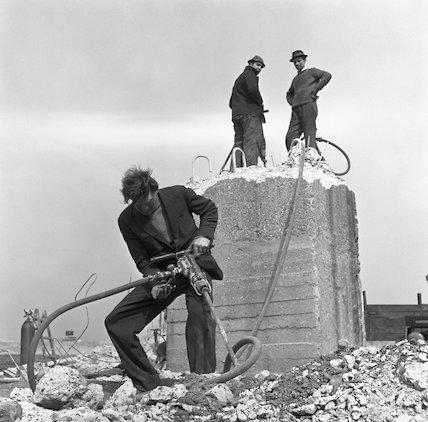 Three demolition men. c.1955