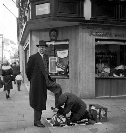 Shoe shine man. c.1955