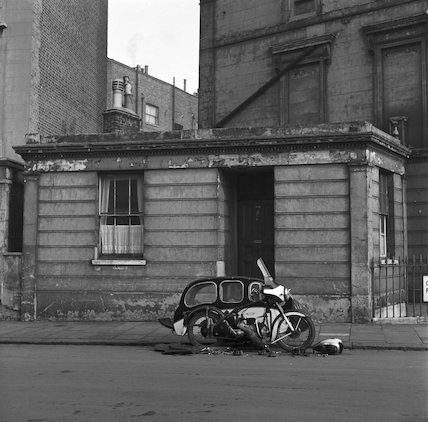 Motorbike and sidecar. c.1955