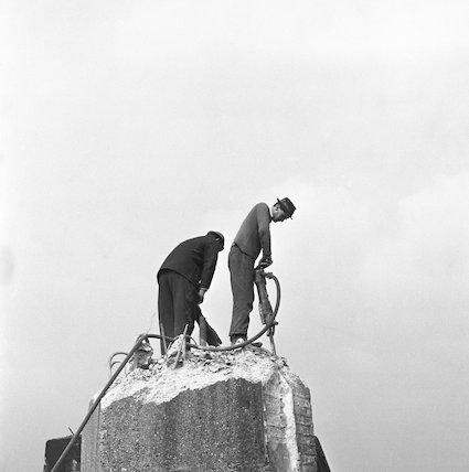 Two demolition men. c.1955