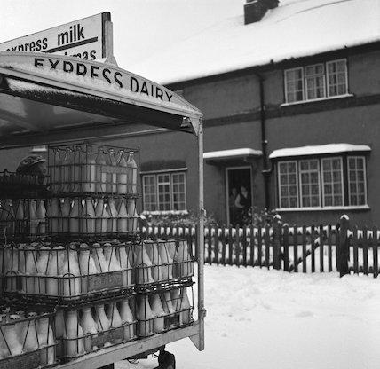 An Express Dairy milk float. c.1955