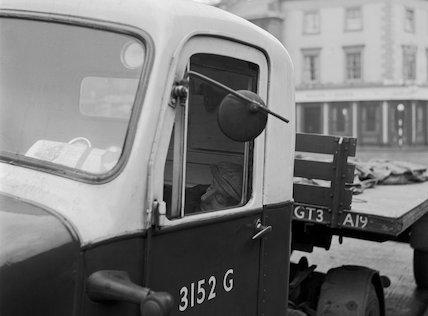 Sleeping truck driver. c.1955