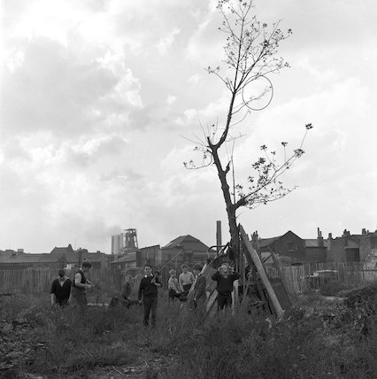 Children playing on waste ground. c.1955