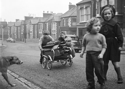Children playing in a street. c.1955