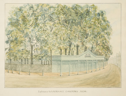 Entrance to Vauxhall Gardens, 1850