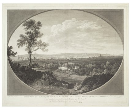 A South View of the Cities of London and Westminster, taken from