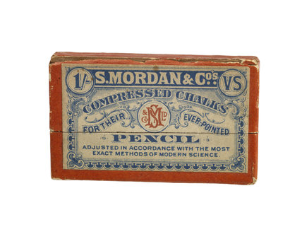 Cardboard box used as packaging for Mordan's & Co.c 1900 compressed ch