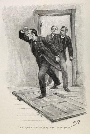 Sherlock Holmes. Illustration from the Strand Magazine; 1893