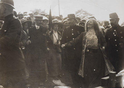 Suffragette Kitty Marion arrested for heckling David Lloyd George; 1912