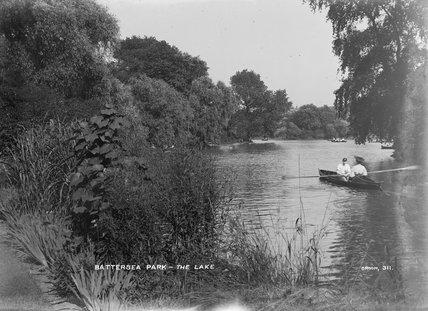 The lake at Battersea Park, c. 1905