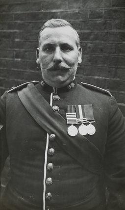 Sergeant Major wearing medals; c.1913