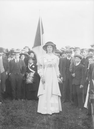 Charlotte Marsh in Hyde Park; 1908
