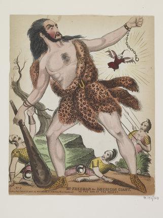 Mr Freeman the American Giant:1843