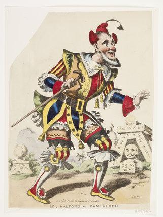 Mr J. Halford as Pantaloon: c.1845