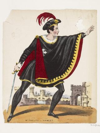 Mr Phelps as Hamlet: c.1645