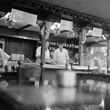 Chefs in an Italian restaurant; 1968