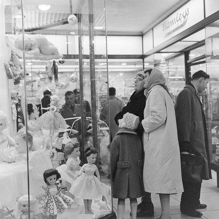 Hamleys Toy Shop window, Christmas 1961