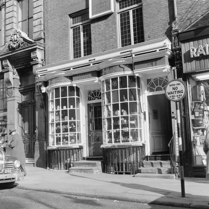Fribourg and Treyer snuff shop; 1955